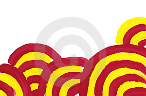 Abstract Simple Red Yellow Circlesbackground. Stock Images - Image: 18330524