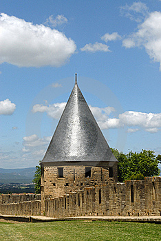 Carcassonne Castle Towers Stock Photo - Image: 18330610