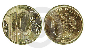 Two Sides Of The Coin Ten Rubles Royalty Free Stock Image - Image: 18331506