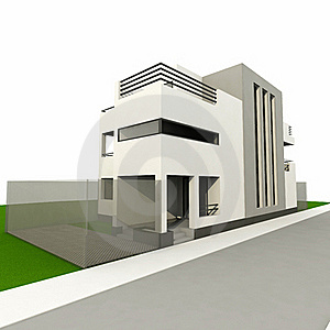 3d Modern House Stock Photo - Image: 18331580