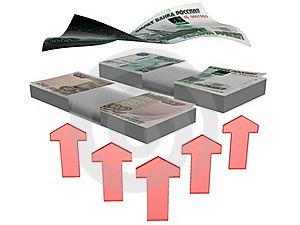 Increase Russian Money Stock Photo - Image: 18332390