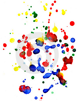 Abstract Colorful  Drops Royalty Free Stock Images - Image: 18334019