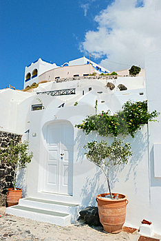 Santorini Village Royalty Free Stock Photography - Image: 18334917