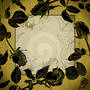 Black Roses Frame Stock Photography - Image: 18336702