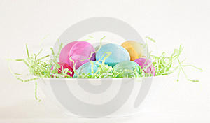Easter Eggs In Bowl Stock Photos - Image: 18336923