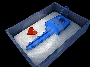 Key From Heart Royalty Free Stock Photos - Image: 18337758