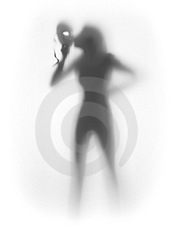 Beautiful Womand And Mask, Silhouette Stock Images - Image: 18337864