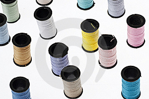 Spools Of Thread Background Stock Images - Image: 18338754