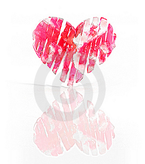Red Frozen Heart Stock Images - Image: 18338874