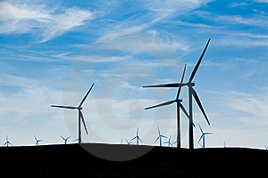 Wind Farm With Blue Sky Royalty Free Stock Photography - Image: 18339127