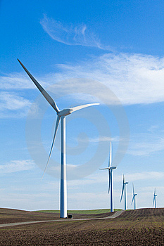 Wind Farm With Blue Sky Stock Images - Image: 18339174
