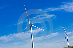 Wind Farm With Blue Sky Royalty Free Stock Photography - Image: 18339187