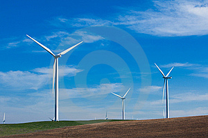 Wind Farm With Blue Sky Stock Images - Image: 18339194