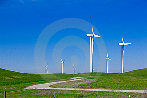 Wind Farm With Blue Sky Stock Photography - Image: 18339222