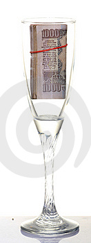 Glass And Notes Stock Photography - Image: 18341412