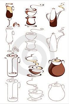 Vector Coffee Elements Set Stock Photo - Image: 18345970