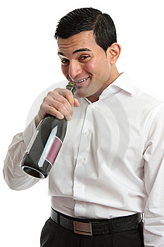 Alcohol Abuse Man Drinking From Wine Bottle Royalty Free Stock Image - Image: 18346046