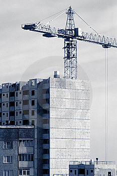 Residence Building Construction Works. Stock Images - Image: 18346824