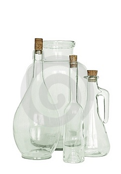 Bottle With Corks And Jar Stock Image - Image: 18347721