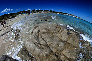 Crystal Waters Of Corsica Coast, France Royalty Free Stock Photos - Image: 18347788