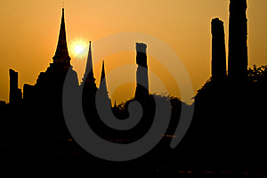 The Ancient Pagoda Of Ayutthaya, Thailand Royalty Free Stock Images - Image: 18347809