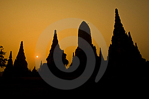 The Ancient Pagoda Of Ayutthaya, Thailand Royalty Free Stock Photography - Image: 18347877