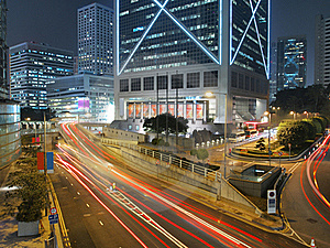 Amazing City Traffic At Night Stock Photo - Image: 18349350