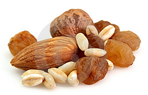 Nuts With Raisin And Wheat Stock Photo - Image: 18349720