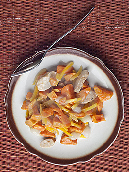 Chicken Sweet Potato And Pearl Onion Dinner Stock Photography - Image: 18350602