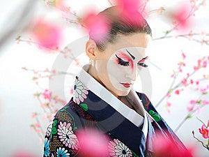Japan Geisha Woman With Creative Make-up Stock Photo - Image: 18351130