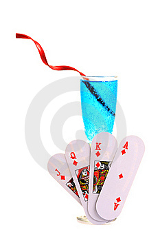 Cards And Drink Stock Photo - Image: 18352440