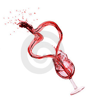 WIne Splash With Heart Stock Photos - Image: 18352503