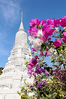 Phnom Penh - S.M. King Ang Doung Stupa Images stock - Image: 18352924
