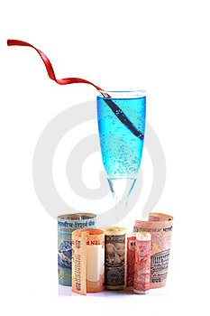 Money And Drink Royalty Free Stock Photo - Image: 18353005