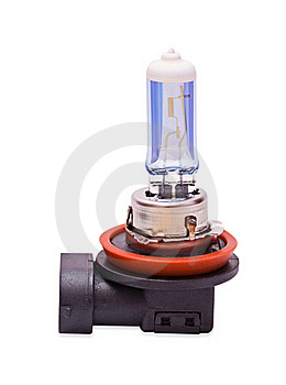 Car Halogen Bulb Isolated Royalty Free Stock Photo - Image: 18353825