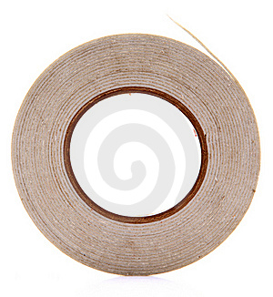 Dual Side Adhesive Tape Royalty Free Stock Photo - Image: 18354075