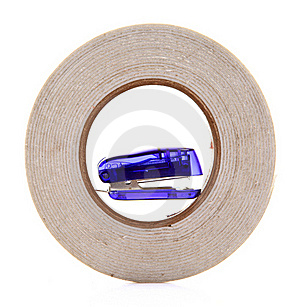 Tape And Stapler Royalty Free Stock Image - Image: 18354116