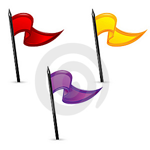 Set Of Flags Royalty Free Stock Photography - Image: 18358607