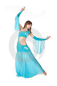 Belly Dancer In A Blue Royalty Free Stock Image - Image: 18358746