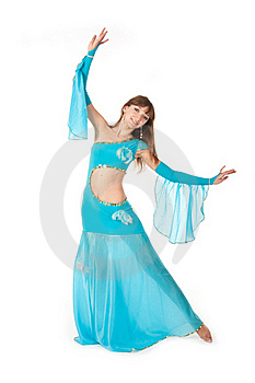 Belly Dancer In A Blue Royalty Free Stock Photography - Image: 18358747