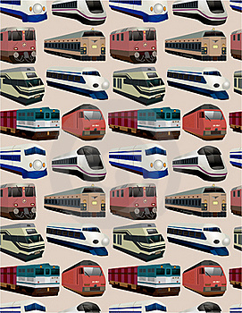 Seamless Train Pattern Royalty Free Stock Photography - Image: 18358837