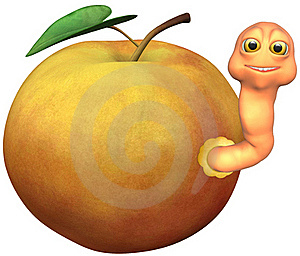 Gusano De Apple Imagen de archivo libre de regalías - Imagen: 18365486