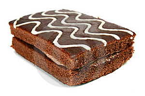 Chocolate Pastry With Cream Stock Images - Image: 18365754