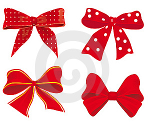 A Set Of Red Ribbons Stock Photo - Image: 18367000