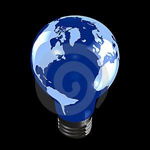 Globe Light Bulb Stock Images - Image: 18367134
