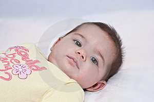 Baby Girl Up Close Royalty Free Stock Photography - Image: 18367487