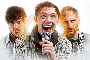 Portrait Of Three Handsome Musicians Royalty Free Stock Image - Image: 18368486