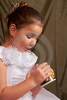 Girl Drinks. Stock Photos - Image: 18368553