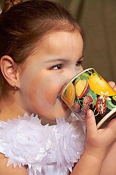 Girl Drinks. Stock Image - Image: 18368571