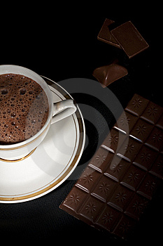 Luxury Chocolate Art, From Up Royalty Free Stock Photos - Image: 18370148